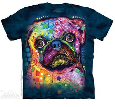 This Colorful Pug tee by Dean Russo is one of our favorites from the Mountain. After just one wash you will not know where the print ends and the shirt begins. Our unique printing process actually pul