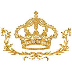 Linda moldura com coroa para você bordar e decorar!