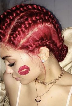 Kylie Jenner turns 19 today and she's kicking off the celebrations with a red hot new hairdo! Get the scoop!