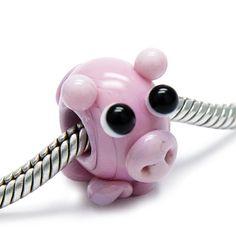 Beads Modul - Glas-Bead - rosa Schweinchen - 627