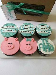 Presents - Diana Portillo - Cupcakes Gifts For My Boyfriend, Boyfriend Anniversary Gifts, Nutella Cupcakes, Piggy Cake, Romantic Surprise, Birthday Cupcakes, Love Cake, Gifts For Boys, Cake Smash