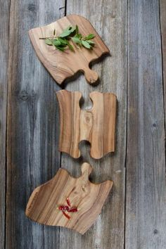 Unique 3 piece cutting board made from walnut wood