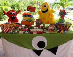 Monster Themed Birthday Party via Karas Party Ideas | KarasPartyIdeas.com #monster #birthday #party (16)