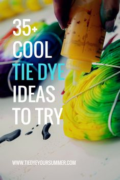 Tie Dye Your Summer!You can find Tie dye patterns and more on our website.Tie Dye Your Summer! Tie Dye Shoes, How To Dye Shoes, How To Tie Dye, How To Dye Fabric, Tye Dye, Tye And Dye, Tie Dye Folding Techniques, Fabric Dyeing Techniques, Tie Dying Techniques