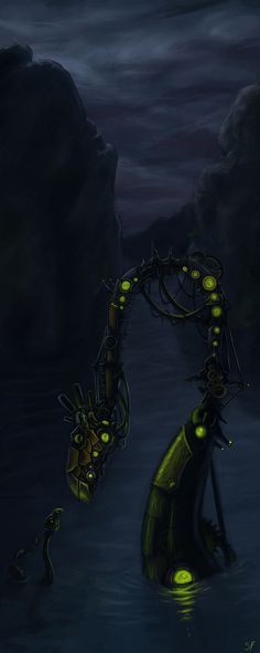 ...There was no other water monsters to take the last living one. So he built one to raise it correctly...