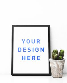 Free Minimal Poster Frame Mockup