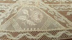 Antique Vintage French Normandy Valenciennes Linen Lace Trim 7 Yards Late 1800'S…