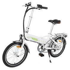 Onway 20 Inch 6 Speed Folding Electric Bicycle, Built-in Lithium Battery, 250W Rear Wheel Brushless Motor -- To view further for this item, visit the image link.