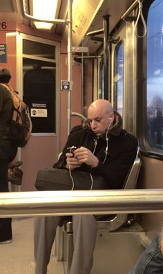 Dr Evil on the train
