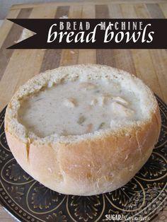 Bread Bowl Bread Machine Recipe, Bread Machine Banana Bread, Easy Bread Machine Recipes, Best Bread Machine, Bread Maker Machine, Bread Maker Recipes, Bread Machine Rolls, Bread Machines, Easy Recipes