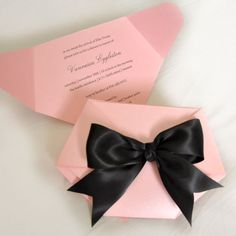 Pink and Black Diaper Shaped Baby Shower por ThenComesPaper en Etsy