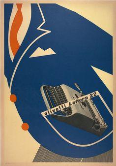 Vintage Advertising Posters | Olivetti typewriters