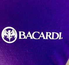 Do you like rum based drinks? Then this shirt is for you. Bacardi Rum T-Shirt Large Purple Gildan 100% Cotton Bat Caribbean Drinks #Gildan #GraphicTee