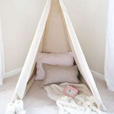 Learn how to create your own DIY tepee, a fun and magical place that can be used for playing, napping, or as a reading nook. Kids love!