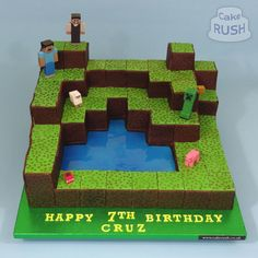 minecraft cake / minecraft cake - minecraft cake ideas - minecraft cake easy - minecraft cake birthday - minecraft cake cupcakes - minecraft cakes for boys - minecraft cake pops - minecraft cake diy Minecraft Cupcakes, Minecraft Party Decorations, Minecraft Birthday Cake, Easy Minecraft Cake, Minecraft Party Ideas, Happy 7th Birthday, 6th Birthday Parties, Boy Birthday, Birthday Ideas