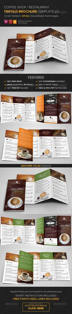 Product Promotion Flyer Ad Design V6 Products, Flyers and Ad design - coffee shop brochure template