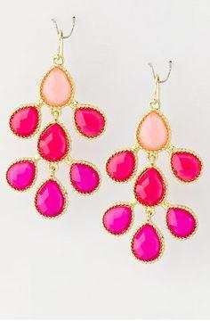 Lena Earrings - Pink, Honeymoon