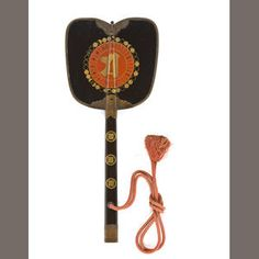 Bonhams 1793 : An elegant black lacquer gunpai (General's war fan) Edo period, 19th century