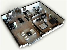 25 One Bedroom House/Apartment Plans 19) This spacious one bedroom ...