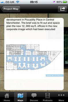 Project photographs and images on the Project Page - Architect map mini app