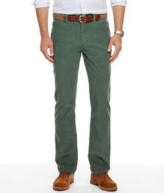 """""""Corduroy"""" may or may not originate from cord du roi (cord of the kings), but one thing we know for sure: Those 17th century sovereigns never had cords this cool. A little stretch in the fabric gives these men's pants regal comfort."""