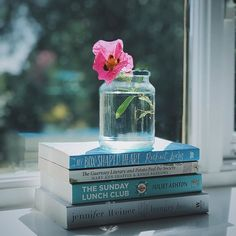 As part of my efforts to focus on the things I love about summer I'm sorting out the books I'll be taking on my summer holiday. I'm so looking forward to lying on a sun lounger reading these over the school holidays. What have you got lined up to read this summer? [I've written all about these on my blog] #booksandbotanicals    #Regram via @abookishbaker Jennifer Weiner, The Guernsey Literary, School Holidays, Window Sill, Go Outside, Photo Illustration, To Focus, So Little Time, Sun Lounger