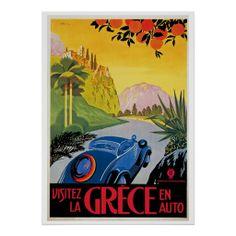 Visitez La Grece en Auto Poster http://www.zazzle.com/visitez_la_grece_en_auto_poster-228621508680280324?rf=238194283948490074&tc=pfz #vintage #deco #travel #greece #advertisement #automobile #transportation #balkans #visitez #moffa #retro #retrocommunications #poster #zazzle