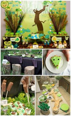 This collection of swamp birthday party ideas is filled with creative ideas for decorations, food, activities and more! From creepy crawly to elegant! Alligator Birthday Parties, Alligator Party, Dinosaur Party, Baby Birthday, Birthday Ideas, Third Birthday, Swamp Party, Swamp Theme, Shrek