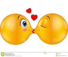 Foto sobre Ilustração do emoticon de beijo dos desenhos animados - 46948231