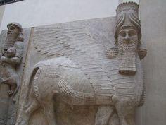 Winged bulls, Dur Sharrukin (present day Khorsabad), 713 BC Akkad, Mesopotamia