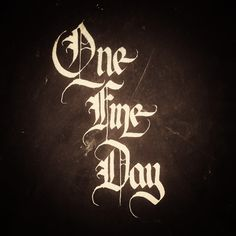 One fine day indeed ^_^ @carligraphy #carligraphy #calligraphy #lettering #goodvibes