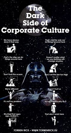 "Allowing the organizational culture to become infected by ""The dark side of corporate culture"" is a death blow to any strategy"