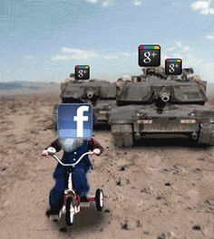 Google+ vs Facebook Tank Animated Heavy.     http://linkedinsiders.wordpress.com/