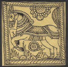 Kalamkari: KALAMKARI Madhubani Art, Madhubani Painting, Kalamkari Painting, Fabric Painting, Traditional Paintings, Traditional Art, Kalamkari Designs, Kerala Mural Painting, Krishna Painting