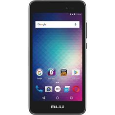 Unlocked BLU - Dash G with 4GB Memory Cell Phone - Black, D490U BLACK