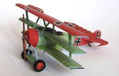 WWI Fokker Dr.I Ver.6 Free Aircraft Paper Model Download