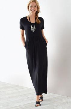 scoop-neck knit maxi dress