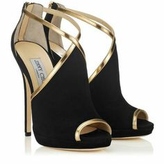 Jimmy cho gold and black heels