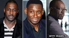 Idris Elba, David Harewood and Lennie James