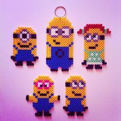 Minions hama perler beads by gaellecrusty