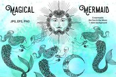 Magical Mermaid by anastasia.mazeina on @creativemarket