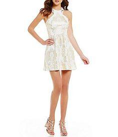 b0a456905 B. Darlin Foiled Medallion Print Skater Dress Daytime Dresses, Formal  Dresses, Junior Dresses