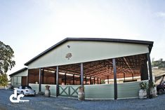 Check out custom equestrian facility with a covered riding arena and attached six stall stable in Shingle Springs, California and see what DC Building can do for you.