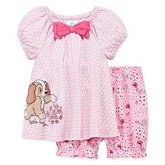 jcp | Disney Baby Collection Lady and the Tramp 2-pc Dress Set - Baby Girls newborn-24m