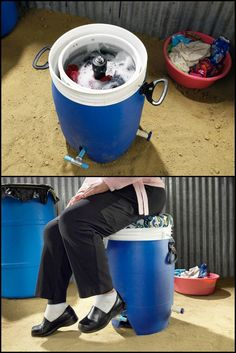 8 Human Powered Washers That Don't Need Electricity To Operate  http://theownerbuildernetwork.co/x885     Off the grid? No problem. Camping holiday? No problem. Want some exercise while you save money? No problem. All you need is one of these nifty people-powered' washing machines…