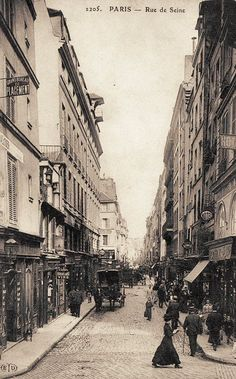 """ Rue de Seine, Paris, France, circa 1900 """