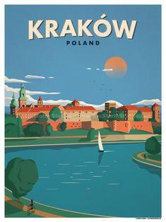 Krakow Poster by IdeaStorm Studios ©2017. Available for sale at ideastorm.bigcartel.com