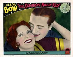 Lobby card from the 1929 film The Saturday Night Kid with Clara Bow and James Hall.