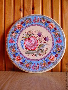 "роспись по дереву Городецкая ""Восточный мотив"". Handmade. China Painting, Tole Painting, Painting On Wood, Drawing Techniques Pencil, Norwegian Rosemaling, Russian Folk Art, Scandinavian Folk Art, Pintura Country, Naive Art"