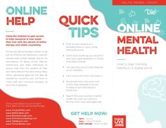 How can you take care of your mental health online? Check out this informational pamphlet to learn more!